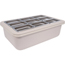 "Carlisle Coldmaster® 6"" Deep Full-Size Coldpan with Organizer - White CFSCM104902CS"