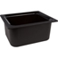 "Carlisle Coldmaster® 6"" Deep Half-Size Food Pan 192 oz. - Black CFSCM110103CS"