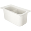 "Carlisle Coldmaster® 6"" Third-Size Divided Food Pan - White CFSCM110302CS"