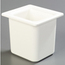 "Carlisle Coldmaster® 6"" Deep High Capacity Sixth-Size Food Pan - White CFSCM110502CS"