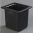 "Carlisle Coldmaster® 6"" Deep High Capacity Sixth-Size Food Pan - Black CFSCM110503CS"