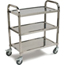 Carlisle 4 Shelf Knockdown Stainless Steel Utility Cart CFSUC4031733