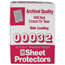 C-Line Products Standard Weight Traditional Poly Sheet Protectors, 11 x 8 1/2 CLI00032BNDL3BX