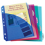 C-Line Products Mini Size 5-Tab Poly Index Dividers w/Slant Pockets, Assorted Colors CLI03750BNDL12ST