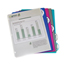 C-Line Products Biodegradable 5-Tab Poly Binder Index Dividers, Assorted CLI05450BNDL12PK