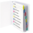 C-Line Products Polypropylene Sheet Protectors w/Index Tabs, Assorted Color Tabs, 11 x 8 1/2 CLI05580BNDL3ST