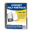 C-Line Products 8-Pocket Spiral-Bound Poly Portfolio, Smoke CLI33081BNDL6EA