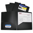 C-Line Products 2-Pocket Heavyweight Poly Portfolio Folder, Black CLI33951BNDL18EA