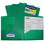 C-Line Products 2-Pocket Heavyweight Poly Portfolio Folder, Green CLI33953BNDL18EA