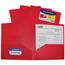 C-Line Products 2-Pocket Heavyweight Poly Portfolio Folder, Red CLI33954BNDL18EA
