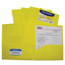 C-Line Products 2-Pocket Heavyweight Poly Portfolio Folder, Yellow CLI33956BNDL18EA