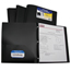 C-Line Products 2-Pocket Heavyweight Poly Portfolio Folder w/Prongs, Black CLI33961BNDL12EA