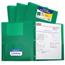 C-Line Products 2-Pocket Heavyweight Poly Portfolio Folder w/Prongs, Green CLI33963BNDL12EA