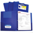 C-Line Products 2-Pocket Heavyweight Poly Portfolio Folder w/Prongs, Blue CLI33965BNDL12EA