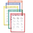C-Line Products Reusable Dry Erase Pockets, Assorted Primary Colors, 9 x 12 CLI40610