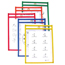 C-Line Products Reusable Dry Erase Pockets, Assorted Primary Colors, 6 x 9 CLI41610BNDL2PK
