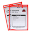 C-Line Products Neon Shop Ticket Holders, Orange, Stitched, Both Sides Clear, 9 x 12 CLI43912