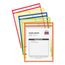 C-Line Products Stitched Shop Ticket Holders, Neon Assorted 5 Color, 9 x 12 CLI43920