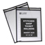 C-Line Products Shop Ticket Holders, Stitched, Both Sides Clear, 11 x 14 CLI46114