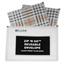 C-Line Products Zip 'N Go Reusable Envelope, Plaid CLI48012BNDL12EA