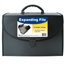 C-Line Products 21-Pocket Legal Size Expanding File w/Handle, Black CLI58320