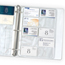 C-Line Products Business Card Holders, Poly w/o Tabs, Holds 20 Cards/Page, 11 1/4 x 8 1/8 CLI61217BNDL5PK