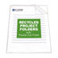 C-Line Products Recycled Project Folders, Clear - Reduced Glare CLI62127BNDL3BX