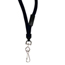 C-Line Products Breakaway Lanyards, Swivel Hook, Black CLI89511