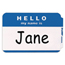 C-Line Products Pressure Sensitive Badges, HELLO my name is, Blue, 3 1/2 x 2 1/4 CLI92235BNDL10BX