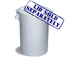Continental Huskee™ 10 Gallon Waste Receptacles CON1001WH