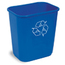 Continental Rectangular Recycling Wastebaskets CON1358-1
