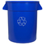 Continental Huskee™ Round Recycling Receptacles CON2000-1