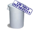 Continental Huskee™ 44 Gallon Waste Receptacles CON4444WH