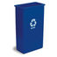 Continental Wall Hugger™ Recycling Receptacles CON8322-1