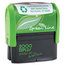 Consolidated Stamp 2000 PLUS® Green Line Self-Inking Custom Message Stamp COS1SI40PGL
