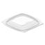 Dart Dart® PresentaBowls® Pro™ Clear Square Bowl Lids DCCC816BDL