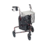Drive Medical 3 Wheel Flame Red Rollator Walker w/Basket Tray & Pouch 10289RD