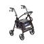 Drive Medical Duet Transport Wheelchair Walker Rollator 795BK