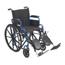 Drive Medical Blue Streak Wheelchair w/Flip Back Desk Arms & Elevating Leg Rests, 1EA/CS BLS16FBD-ELR