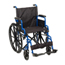 Drive Medical Blue Streak Wheelchair with Flip Back Desk Arms BLS18FBD-SF