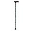 Drive Medical Lightweight Adjustable Folding Cane with T Handle, Peacock DRVRTL10304PK