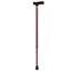 Drive Medical Adjustable Lightweight T Handle Cane with Wrist Strap, Red Floral DRVRTL10335RF