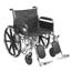 Drive Medical Sentra EC Heavy Duty Wheelchair w/Detachable Full Arms & Elevating Leg Rest STD22ECDFA-ELR