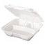 Genpak Foam Hinged Carryout Containers GNPSN203