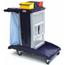 Geerpres Modular Plastic Housekeeping Cart - 301B Base Unit With 3 Top Buckets GPS301T