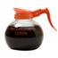 Wilbur Curtis Glass Decanter, Orange Handle WCS70280200403