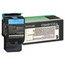 Lexmark Lexmark C544X1CG Extra High-Yield Toner, 4000 Page-Yield, Cyan LEXC544X1CG