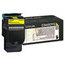 Lexmark Lexmark C544X2YG Extra High-Yield Toner, 4,000 Page Yield, Yellow LEXC544X2YG