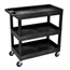 Luxor 3-Shelf High Capacity Tub Cart LUXEC111-B