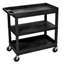 Luxor 18 x 32 Cart 2 Tub with 1 Flat Shelf LUXEC121-B